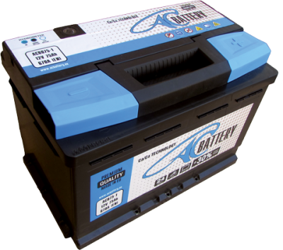 ACBATTERY ACB075-1 75AH R+ 670A AC BATTERY