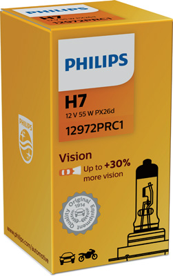 КРУШКА H7 Vision 12V 55W PX26d PHILIPS