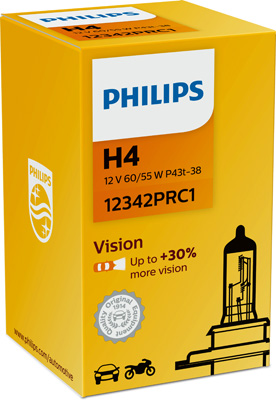 КРУШКА H4 Vision 12V 60/55W P43t-38 PHILIPS