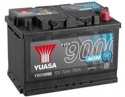 АКУМУЛАТОР YUASA 70AH 760А R+ AGM Start Stop Plus Batteries YUASA