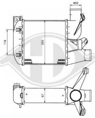 интеркулер (охладител за въздуха на турбината) DIEDERICHS