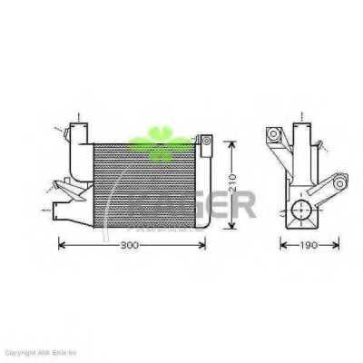 интеркулер (охладител за въздуха на турбината) KAGER