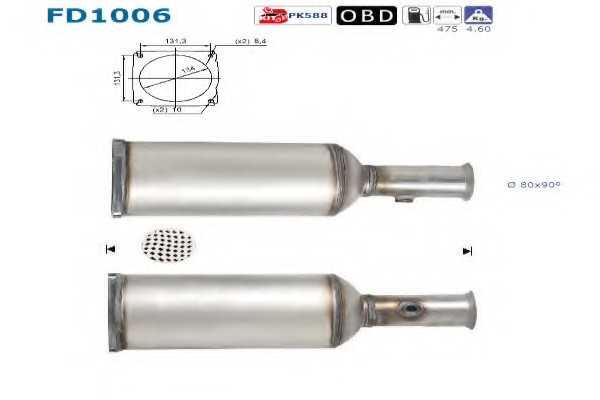 филтър за сажди/твърди частици, изпускателна система AS