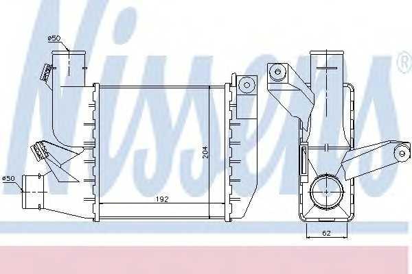 интеркулер (охладител за въздуха на турбината) NISSENS