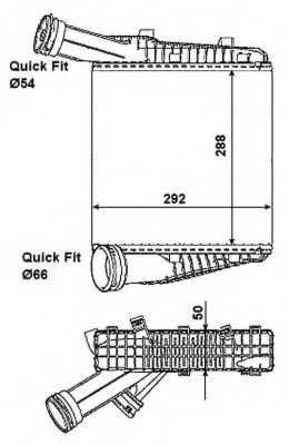 интеркулер (охладител за въздуха на турбината) NRF