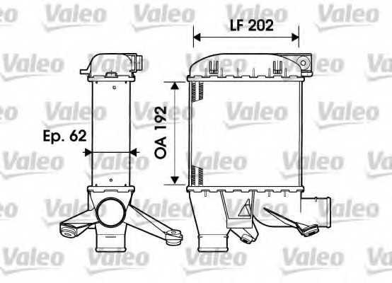 интеркулер (охладител за въздуха на турбината) VALEO