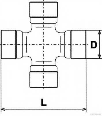 шарнирно съединение, карданен вал HERTH+BUSS JAKOPARTS