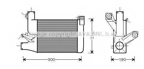 интеркулер (охладител за въздуха на турбината) AVA QUALITY COOLING