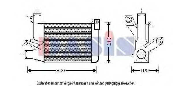 интеркулер (охладител за въздуха на турбината) AKS DASIS