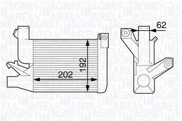 интеркулер (охладител за въздуха на турбината) MAGNETI MARELLI